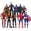 10 Pçs/lote Avengers Figuras Coleção Completa Halk Antman Superheros Spiderman Batman Ironman Capitão América Figuras de Ação Brinquedos