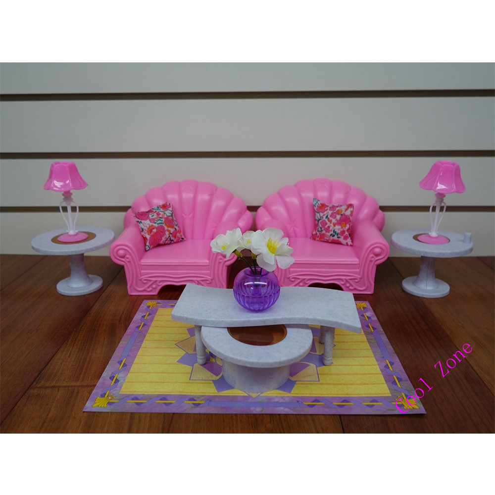 Miniature furniture my fancy life living room for barbie doll house toys for girl free shipping in dolls accessories from toys hobbies on aliexpress com