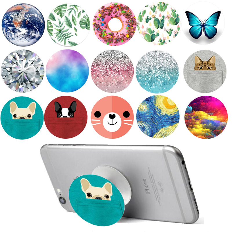 Cat Shark Dimond Phone Stand POP Expanding Grip Mount for Xiaomi iPhone Redmi Huawei Smartphones and Tablets Holder