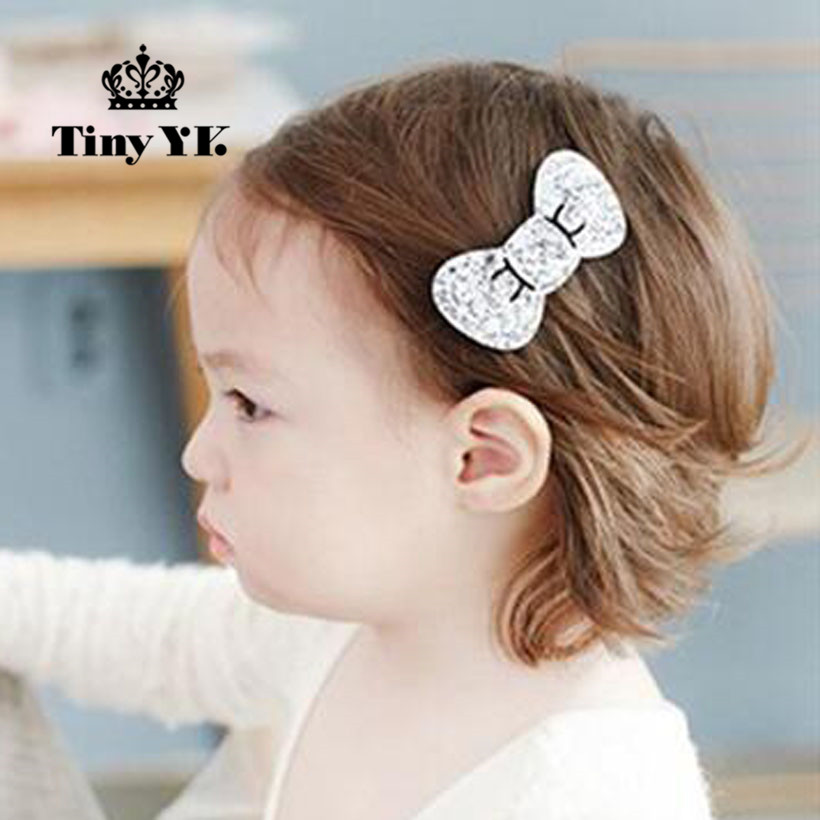 Lovely Bow Kids Hair Accessories Girl Bow Hairpins Child   Headwear   Sparking Hair Side Hair Clips