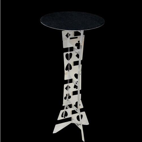 Mesa redonda Plegable de aleación del alluminum Magia, color plata, mejor mesa del Mago, truco de magia, el escenario, ilusiones, Accesorios
