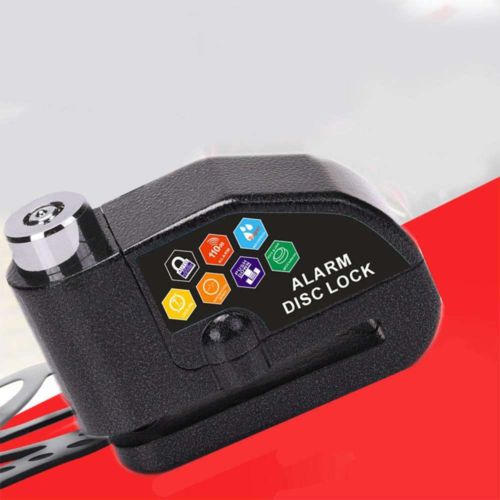 110DB Motorcycle Alarm Lock Motorbike Anti-theft Alarm Wheel Disc Brake Security Safety Siren Lock Hot Sell