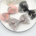 bow shoes clips decorative shop Shoe accessories shoe clip crystal rhinestones charm material N2056