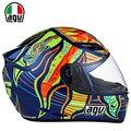 Motorcycle Riding Unisex de la Cara Llena Casco Rossi AGV K3 para Hombres y las mujeres racing capacete motocross downhill off raod de moto gp