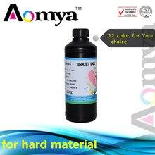 Aomya LED UV Ink for Epson printer with 3D printing ,12Color for you choose 500ml UV LED Ink, DX3 DX4 DX5 DX6 printerhead