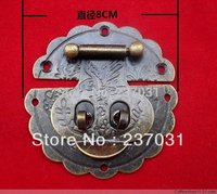 8 Cm In Diameter Large Flower Boxes Buckle Antique Buckles Supporting Padlock Hasp Wooden Buttons