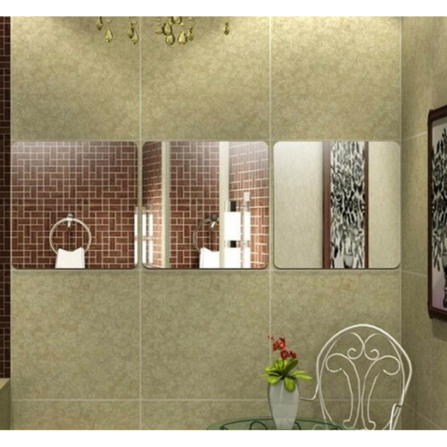дии зид декор за дневну собу купатило соба соба квадратни узорак креативни поклони апстрактна уметност огледало налепнице 2 ком сета