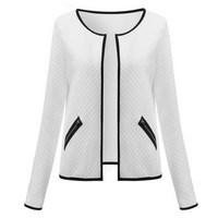plus size s-4xml Women Jacket 2017 Spring Autumn Women Basic Jacket Long Sleeve Pockets Slim Short Cardigan Coat Casual Outwear 1