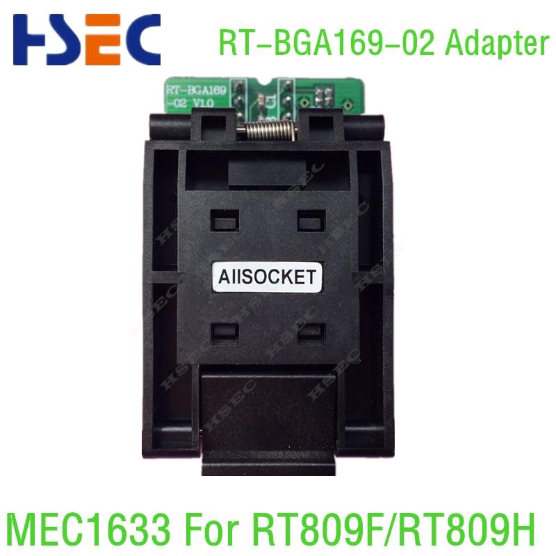 Free shipping Original BGA169 adapter RT BGA169 02 adpater MEC1633 Adapter socket EC Adapter for RT809F
