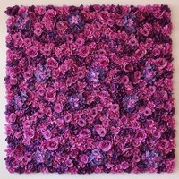 Purple Wedding Flower Wall Flower backdrop with Stand Rose & Hydrangeas Backdrop with Aluminum Folded Pipe frame