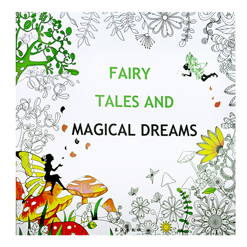 fairy tales and magical dreams coloring book painting mandalas secret garden color drawing alice. Black Bedroom Furniture Sets. Home Design Ideas