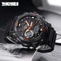 Fashion Outdoor Sports Watches Men SKMEI Brand Dual Display LED Digital Analog Quartz Watch Men 50M
