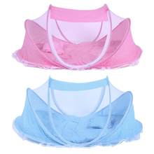 New 3pcs/set Baby Netting Bed Folding Baby Infants Insect Netting Portable Bed Collapsible NewbornInfant kids Children Baby Crib(China)