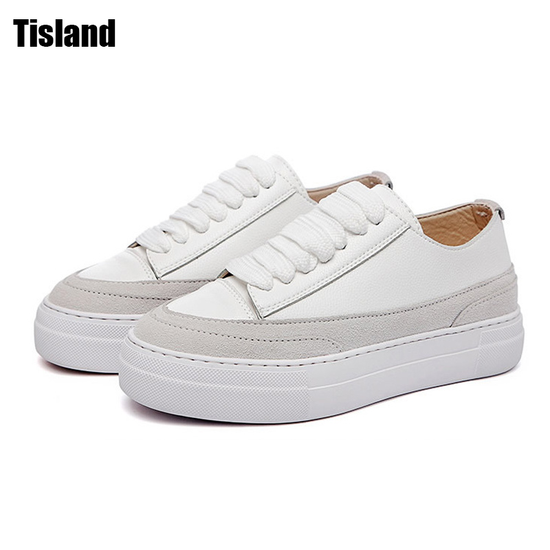 New 2017 Women Flat platform Shoes Fashion Shoes For Women Genuine Leather Female Derbies Casual Shoes Footwear chaussures femme