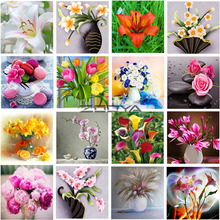 ZOOYA Diamond Embroidery  DIY Painting Rhinestones Cross Stitch Mosaic Picture Colored Flowers RF1104
