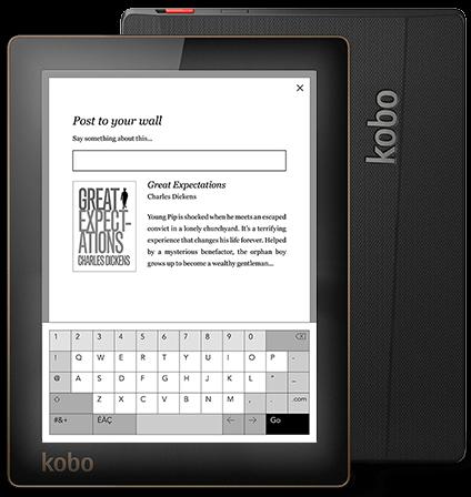 Mode e-tinte e book-Reader Kobo Aura 6 zoll 1024x768 touchscreen wifi 4 GB Vorne licht