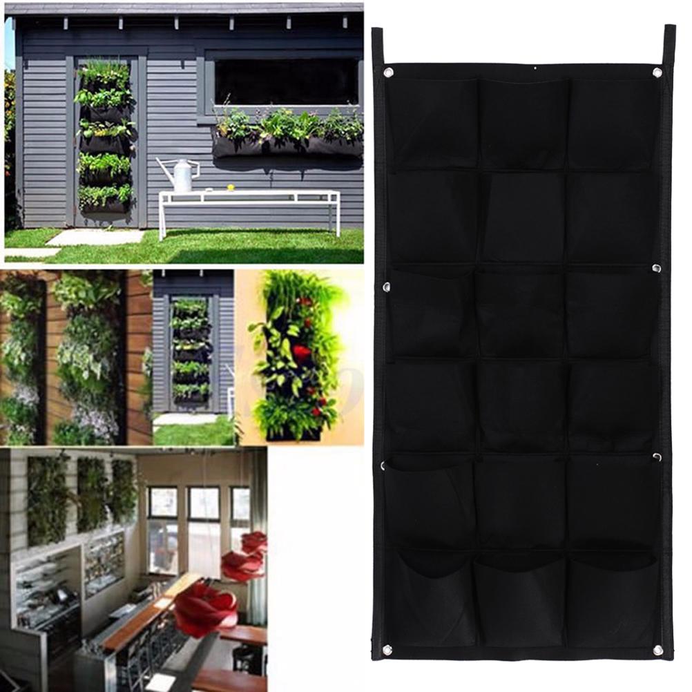 1 pc intérieur extérieur mur suspendus planteur vertical feutre jardin des plantes poussent récipient sacs pots