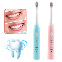 Electric Toothbrush Tooth brush USB Rechargeable Upgraded Adult Waterproof Ultrasonic automatic with 4 Brush Heads Oral Hygiene цена и фото