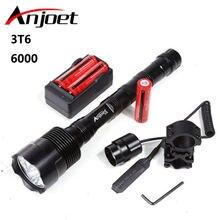 Мощный охотничий тактический фонарь xml 3xt6 6000lm светодиодный