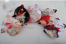 Wholesale, Japanese style,Lucky cat coin purses,coin bags,Zero Wallet,Japanese kimono fabric цена 2017