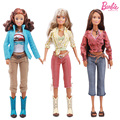 Regalo de la navidad princesa muñeca original de cuerpo de la muñeca + cabeza + ropa de las muchachas, 1 unids muñeca con ropa, accesorios para muñecas para barbie