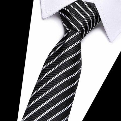 Classic 100% Silk Mens Ties New Design Neck Ties 8cm Plaid&Striped Ties for Men Formal Business Wedding Party Gravatas Multan