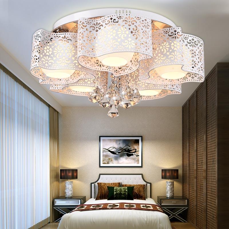 Led plafonnier lustre chaud chambre lampe simple salon lumières personnalité moderne salle de mariage éclairage CL FG320
