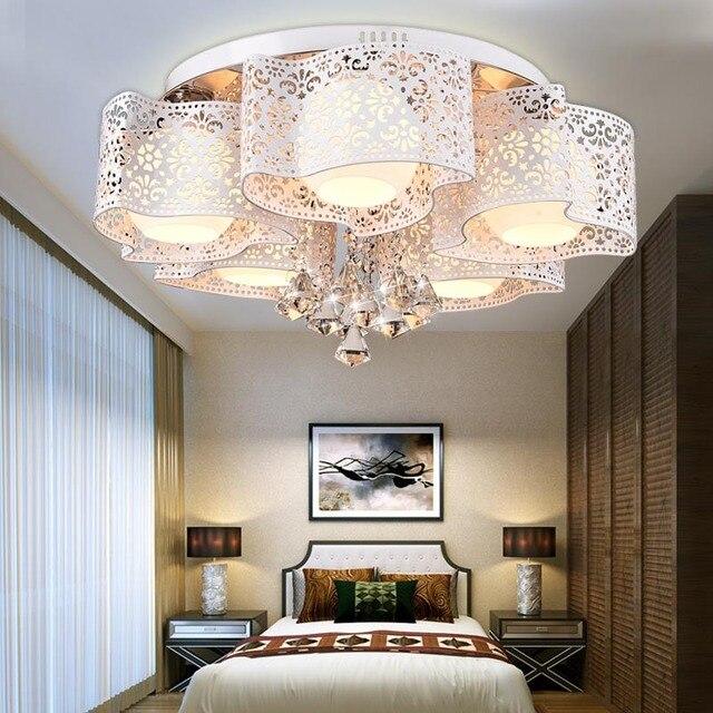 Led plafondlamp kroonluchter warme slaapkamer lamp eenvoudige ...