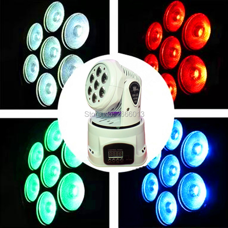 White color 7X12W LED Moving Head light /DMX512 effect stage lighting/RGBW 4IN1 LED wash beam lights/ktv bar dj disco LED lights 10w disco dj lighting 10w led spot gobo moving head dmx effect stage light holiday lights