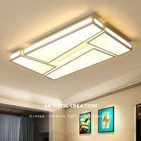 Белый или белый + черный отделка современный светодио дный потолочные светильники дома diy деко Гостиная Спальня Кабинет Потолочный светиль