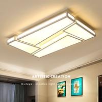 White Or White Black Finish Modern Led Ceiling Lights Home Deco DIY Living Room Bedroom Study