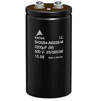 Aluminum Electrolytic Capacitors - Screw Terminal AL-ELKO SCREW TERM 2200UF 450V   B43564-A5228-M  B43564  A5228 aluminum electrolytic capacitors leaded 100uf 35v 20