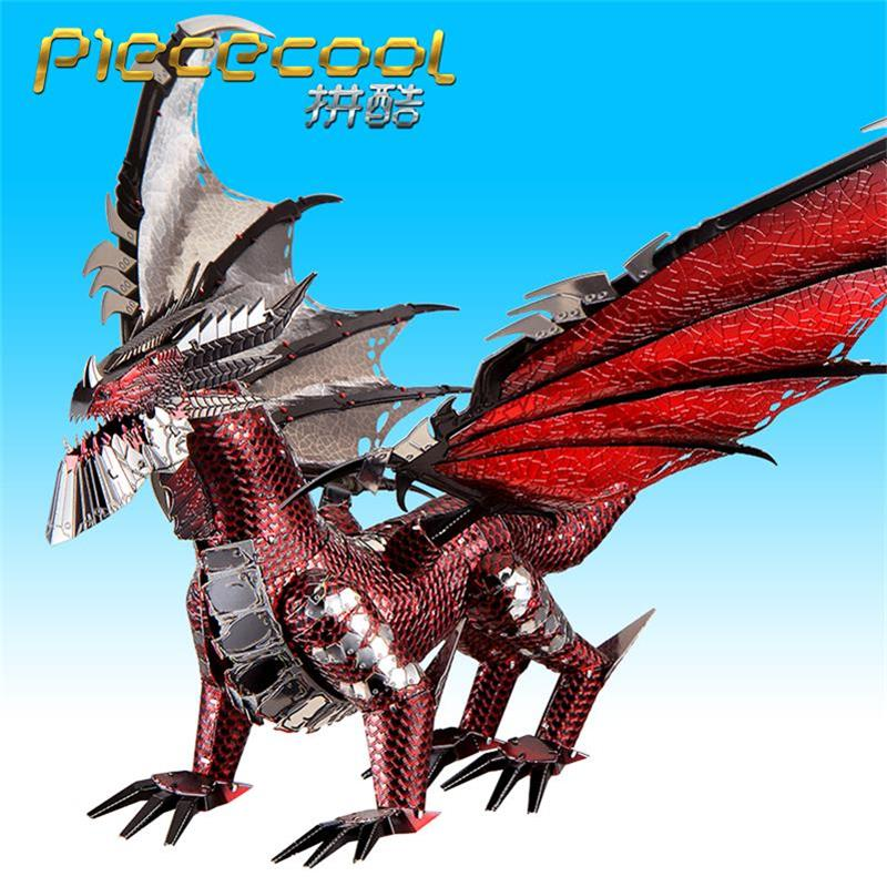 Image 3 - 2019 Piececool 3D Metal Puzzle The Black Dragon Model DIY Laser Cut Assemble Jigsaw Toy Desktop decoration GIFT For Adult kidsPuzzles   -