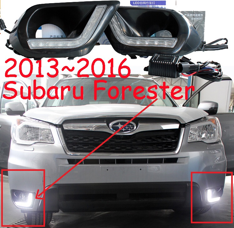2013 2014 2015 2016year,Forester day light;car-styling,Free ship!LED,car covers,Forester fog light,loyale,2pcs,justy;Forester