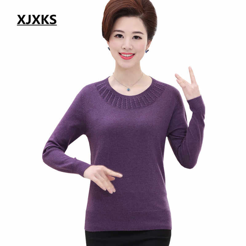 fdbe8e99c4d3 XJXKS sweater 2018 new women sweaters and pullovers long sleeve sweater  women s pullover plus size clothing