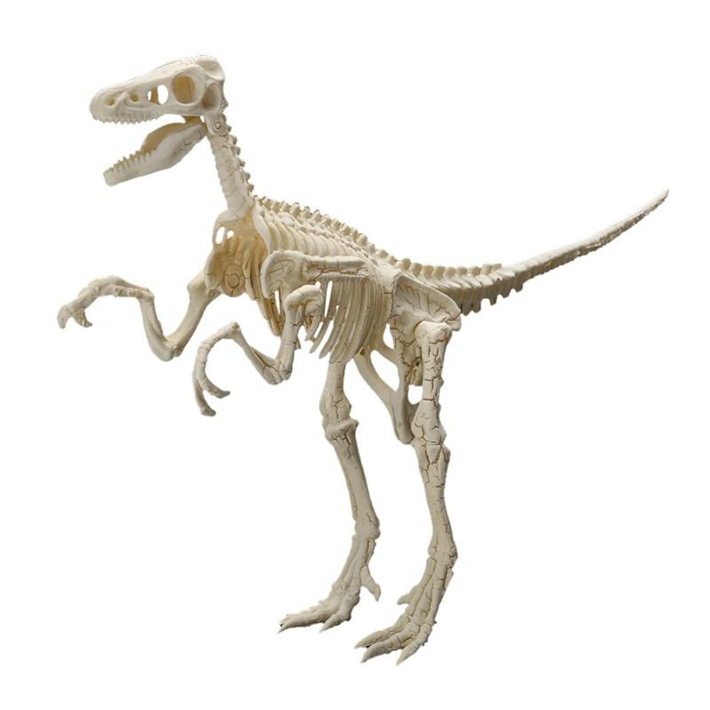 Assorted Plastic Dinosaurs Fossil Skeleton Model Set Mini