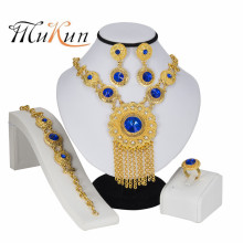 MUKUN Wedding fashion Jewelry Set for Women Earrings Bracelet African Beads in Gold Color Crystal Fashion Jewellery