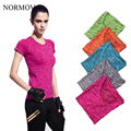 NORMOV S-XL 5 Colors Women's Workout SlimT-Shirt Fashion Breathable Cotton Tees Quick Drying T-Shirt  for Women Tee Plus Size 1A