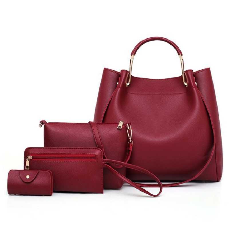 4pcs/set Women Leather Handbag Luxury Female Shoulder Bag Purse clutches 2018 Luxury Leather Bag Handbags Women Crossbody Bag4pcs/set Women Leather Handbag Luxury Female Shoulder Bag Purse clutches 2018 Luxury Leather Bag Handbags Women Crossbody Bag