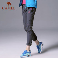 04f987be2f CAMEL Women Hiking Pants Outdoor Softshell Trousers Fleece Inner Waterproof  Windproof Thermal Camping Climbing(China