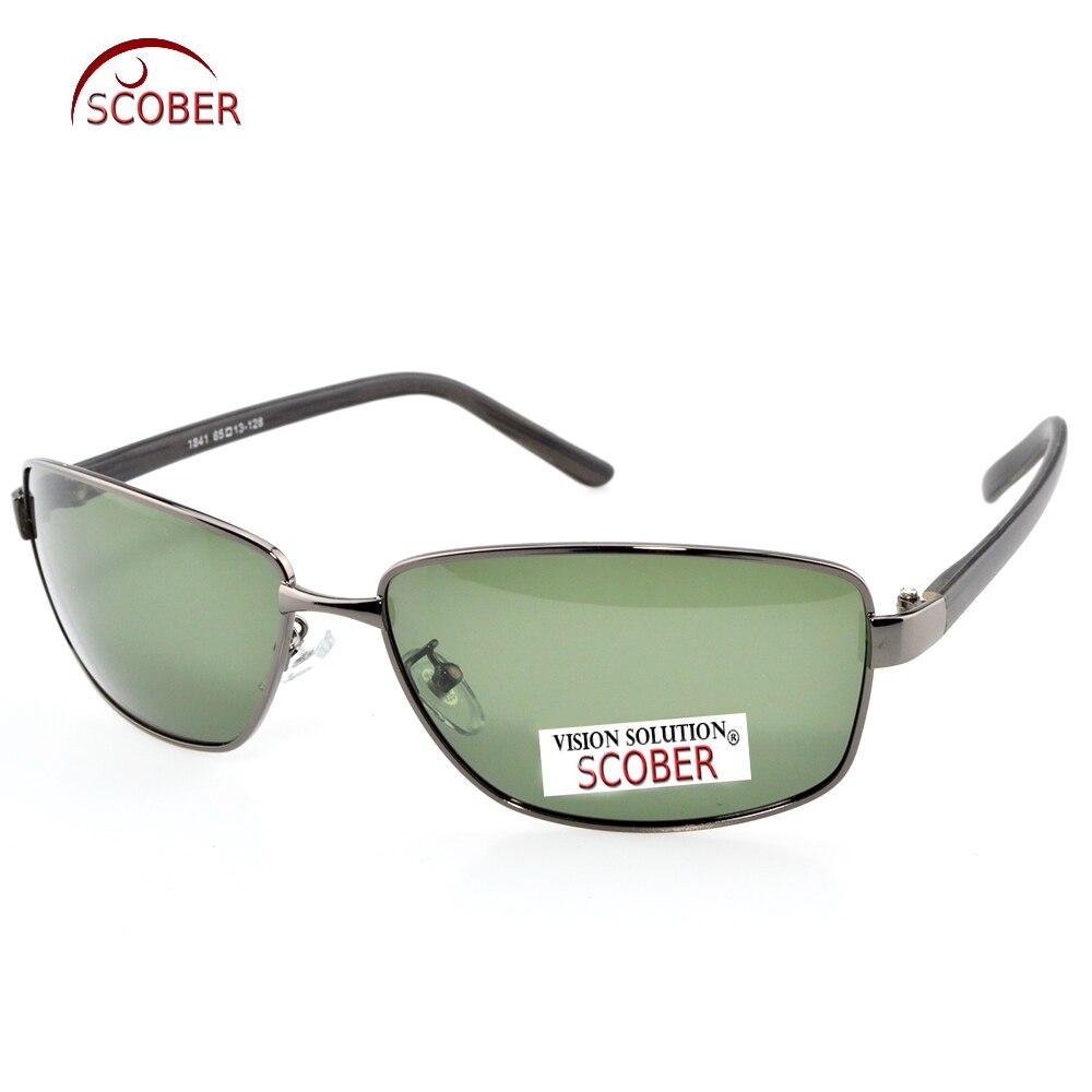 = SCOBER = Krátkozraký minus předpis Malý brokový rám Dřevo Zrno Tr90 Chrám Polarizované sluneční brýle na zakázku -1 až -6