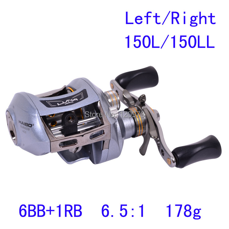 Haibo LUNA150L LUNA150LL 7BB 6.5:1 178g  Bait Casting Lure Fishing Reel Left/Right Hand Bait Cast Reels Metal Frame Top  Quality 12 1bb 6 3 1 left right hand casting fishing reel cnc fishing reels carp bait baitcasting carretilha de pesca molinete shimano