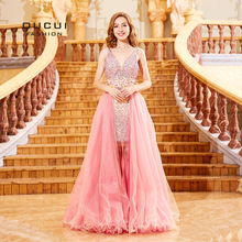 oucui Red Robe Cocktail Dresses 2018 Prom Dress
