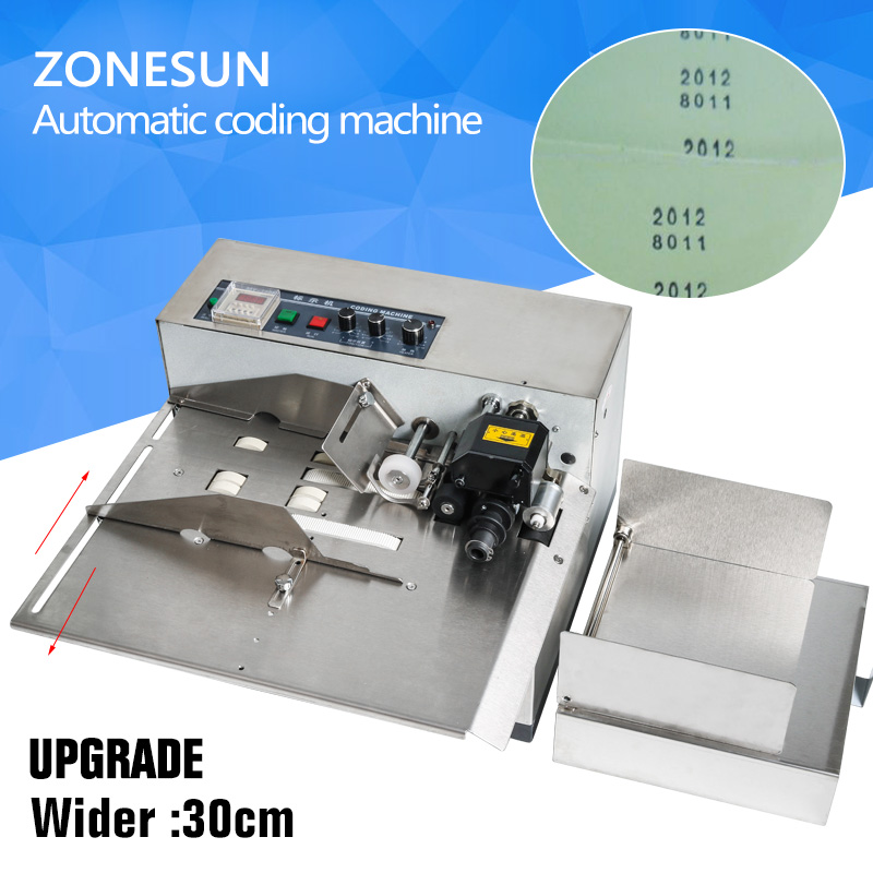 ZONESUN 3-30cm MY-380F Produce Solid Ink Roll Coding Card Bag Paper Continuous date printer machine