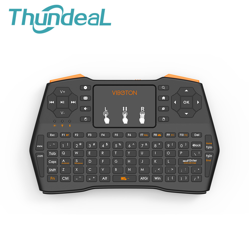 thundeal i8 plus handheld backlight mini wireless keyboard air mouse remote control touchpad for. Black Bedroom Furniture Sets. Home Design Ideas