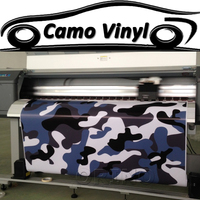 Car Styling Black White Blue Urban Camo Vinyl Wrap Snow Camouflage Vinyl Film Sticker Air Bubble Free For Vehicle Wraps Covers