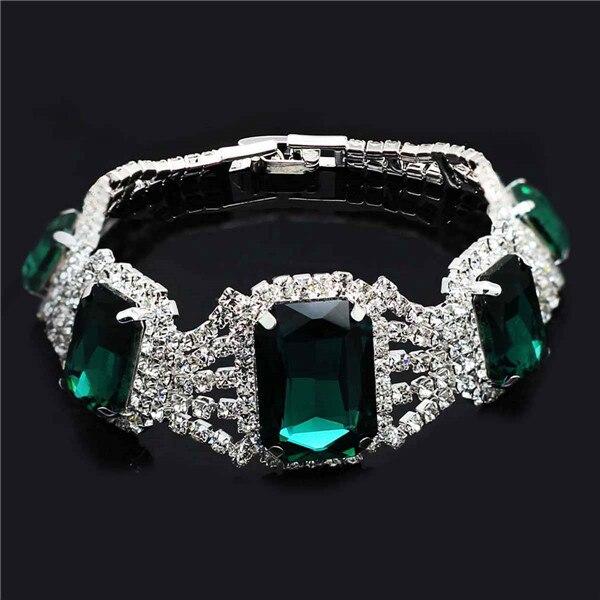 Crystal Rhinestones Silver...