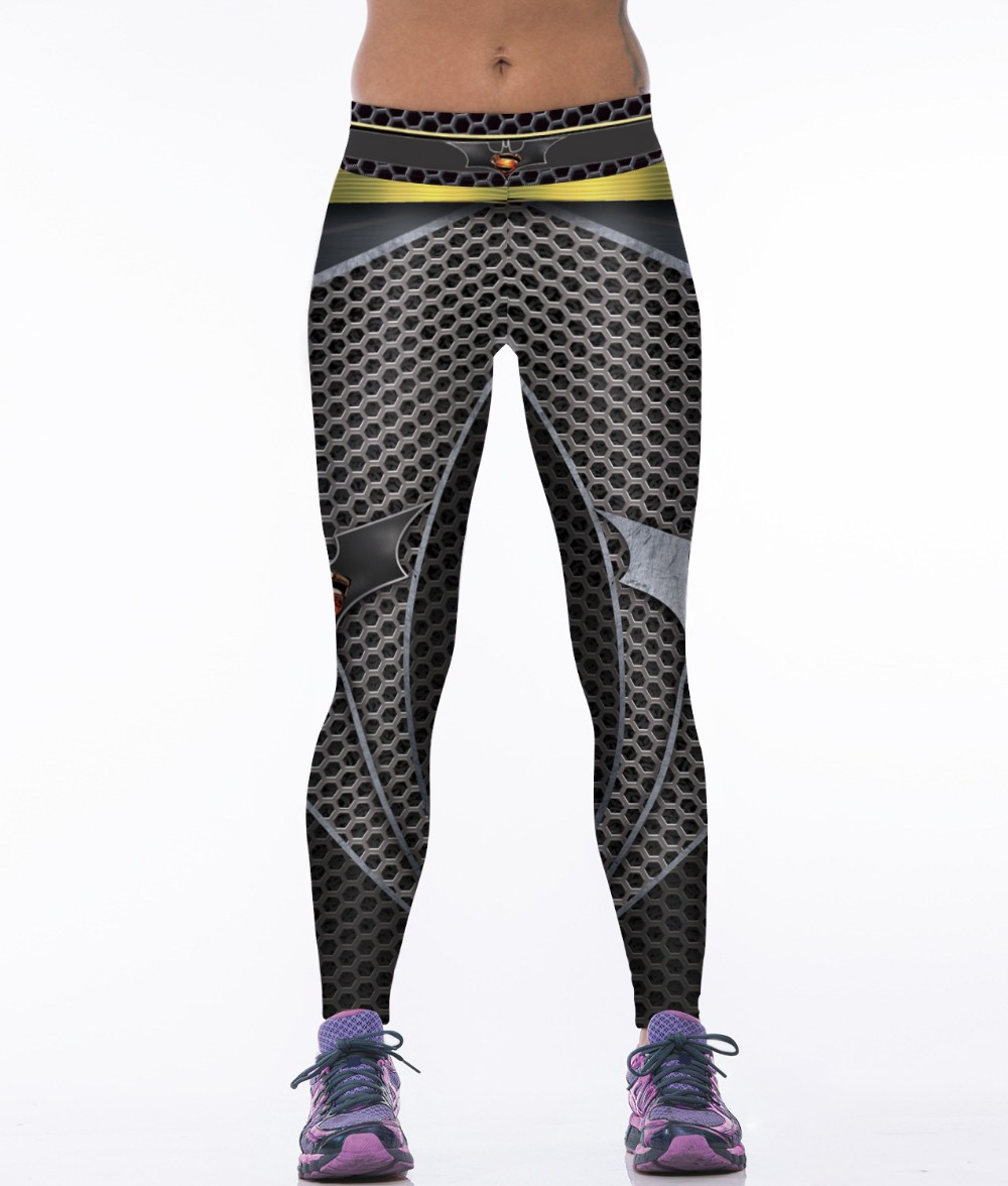 c64522ee26a8d NEW 88004 Sexy Girl Women Comics Batman Superhero Metallic mesh 3D Prints  High Waist Workout Fitness Leggings Pants-in Leggings from Women's Clothing  ...