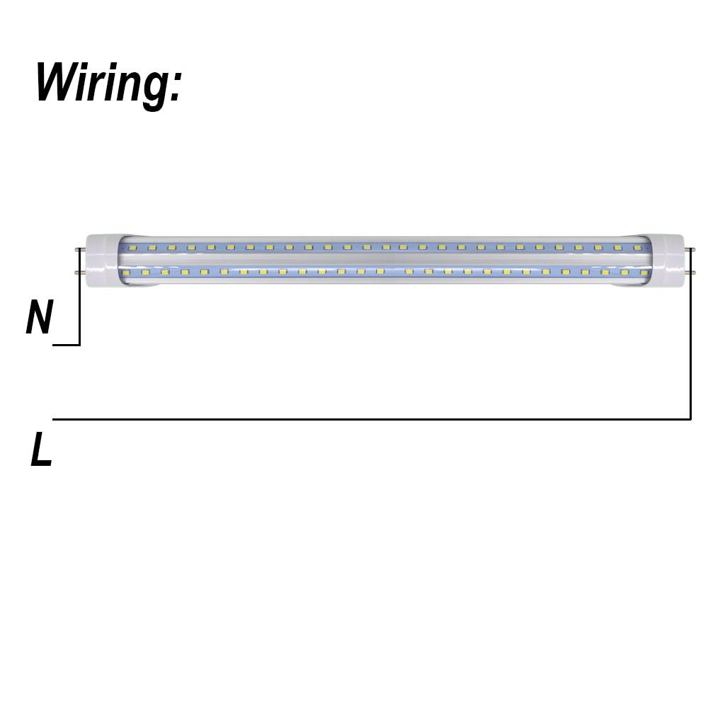 """Image 3 - 2 50/pack V shaped LED Tube Lights 2ft 3ft 4ft 5ft 6ft Fluorescent Bulb Super Bright 24"""" 36"""" 48"""" 60"""" 70"""" T8 G13 Bar Lamp-in LED Bulbs & Tubes from Lights & Lighting"""