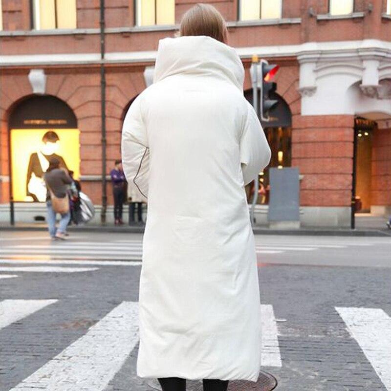 Chaud Femelle Veste long Haute 2018 Canard Parka Européen Épais Et Américain Femmes Style Lâche D'hiver De blanc Qualité Blanc Duvet Noir X xhQrCsdt